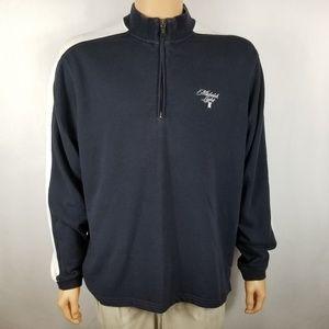 Adidas Men Jacket Sz L Michelob Stretch Navy Blue